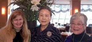 Miriam with Mrs. Ban Soon-taek and Mira Nakashima