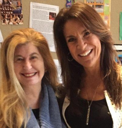 Miriam with Debi Silver