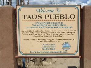 Taos plaque