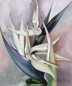 whitebird of paradise painting