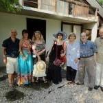 toasted Nakashima's life and many accomplishments with sparkling champagne, we then all moved out onto the grounds.  …. John Lutz,  his wife/need her name, Miriam, Maddye, Wendy Lines, Kevin Nakashima, Jon Yarnell