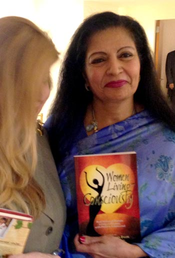 Miriam with Ms. Lakshmi Puri